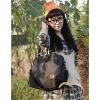 Мода Холст сумка (черный) #01036244