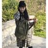 Мода корейский стиль Холст Рюкзак (Изумрудный) #01036422
