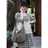 Модные Холст Crossbody (Изумрудный) #01036309